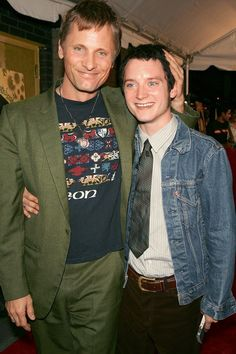 Viggo Mortensen & Elijah Wood. This is precious. #LotR