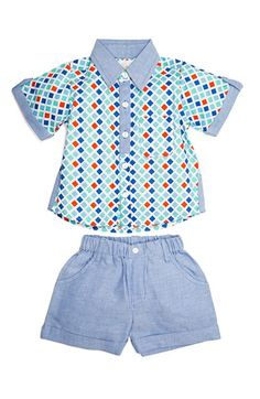9b570aa5888 Masalababy  Neat  Shirt  amp  Shorts Set (Baby Boys) available at