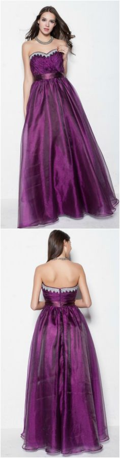 Custom made-to-order formal dress by GemGrace. Multiple colors and all sizes available. Additional photos also available upon request. Purple Strapless Long Party Ball Gown Dress, Prom Dress 2016, Evening Dress 2016.