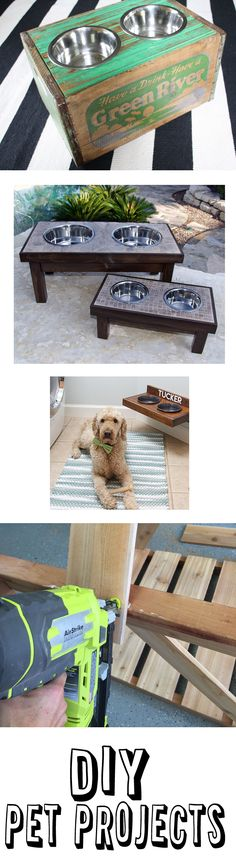 It's amazing to see what so many people do for their pets. We LOVE our dogs, and any excuse for another project. Our friends at Ryobi asked us to share some of our favorite DIY pet projects that Nation members have shared on their site! Here are 10 fun ideas to keep your furry friends happy… And you busy 😉