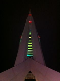 The Spinnaker Tower at night, Gunwharf Quays