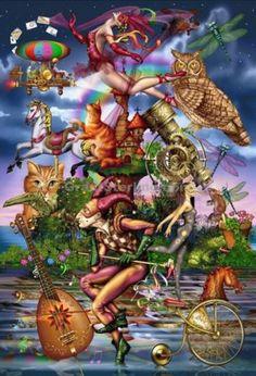 Shangri-La Puzzle 2994-8 Magical World Ceaco Ciro Marchetti