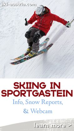 Find out more about the skiing in the high level ski area of Sportgastein and in the quiet Graukogel ski area above Bad Gastein. Austrian Ski Resorts, Ski Austria, Snow Report, Top Hotels, Winter Travel, Skiing, Ski