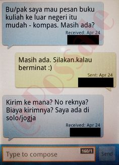 Salah satu SMS transaksi terkini.