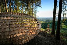 Perspectives by Giles Miller Studio - ParametricArchitecture Green Architecture, Architecture Design, Parametric Architecture, Temporary Architecture, Parametric Design, Cedar Shingles, Timber Cladding, Design Studio, English Countryside