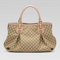 Gucci 269951 Fafxt 8594 Scarlett'Large Tragetasche mit Nieten Verriegelung G Gucci Damen Handtaschen
