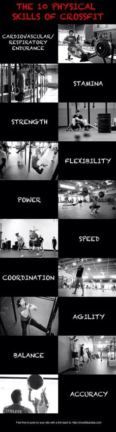 CrossFit is designed to develop 10 general physical skills. You are only as strong as your weakest link. Muscular Strength, Muscular Endurance, Crossfit Inspiration, Fitness Inspiration, Motivation Crossfit, Nutrition Crossfit, Workout, Crossfit Women, Crossfit Baby