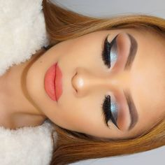 """""""Cut creases are my favorite ✨ Yesterday's Holiday Glam ❄ Lashes: @cakeface_beauty in the style """"Cakeface"""" ✖ Brows: @anastasiabeverlyhills #Dipbrow in…"""""""