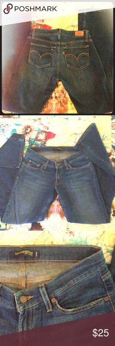Levi too super low bootcut jeans Never worn. Super soft denim 96% cotton/ 2% spandex Levi's Jeans Boot Cut