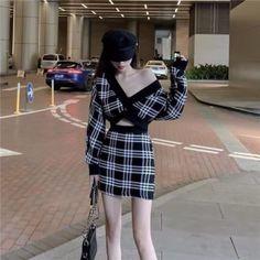 Korean Fashion Dress, Kpop Fashion Outfits, Korean Street Fashion, Ulzzang Fashion, Edgy Outfits, Korean Outfits, Asian Fashion, Classy Outfits, Look Fashion