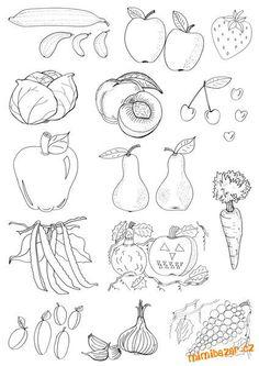 Výsledek obrázku pro ovoce pracovní listy Mandala, Creative Kids, Easy Drawings, Preschool, Crafts, Box, Art Therapy, Coloring Pages, Manualidades