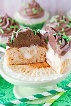 Irish Car Bomb Cupcakes @www.thesweetchick.com