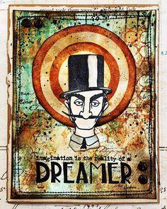 "Cassie Lynch on Instagram: ""Sharing a card using @tim_holtz stamps and inks. #sssmchallenge #simonsaysstamp #spritzandsplatter #timholtz #stampersanonymous #ranger_ink…"" Tim Holtz Stamps, Stampers Anonymous, Ranger Ink, Simon Says Stamp, Lynch, Cassie, The Dreamers, Mixed Media, Knitting"