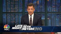 Seth has some strong words for President Trump regarding his response to the humanitarian crisis in Puerto Rico. Puerto Rico, Teen Slang, Steve King, Tim Gunn, Seth Meyers, Strong Words, Tim Beta, Hollywood, All About Eyes