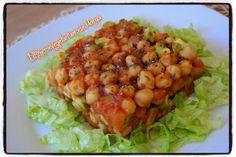 Garbanzos con aguacate y salsa de tomate | Cocinar en casa es facilisimo.com