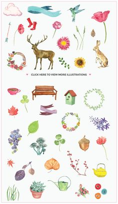 100+ Editable Watercolor Elements by Maroon Baboon on Creative Market