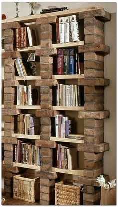 Plans of Woodworking Diy Projects - Creative Beginners Friendly Woodworking DIY Plans At Your Fingertips With Project Ideas, Tips and Tricks Get A Lifetime Of Project Ideas & Inspiration! Small Apartment Bedrooms, Small Apartments, Apartment Living, Apartment Bookshelves, Bookcase, Bookshelf Ideas, Book Shelves, Bookshelf Decorating, Decorating Ideas