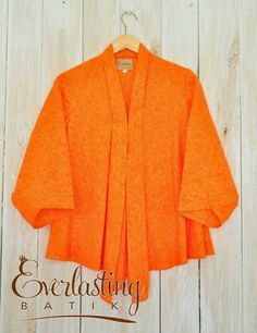 Orange batik blouse