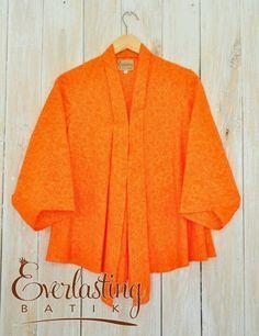 Orange batik blouse