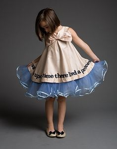 """""""Once Upon a Time There Lived a Princess"""" dress. Etsy. Love."""