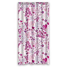 NASAZONE Polyester Love Bath Curtains Width X Height / 36 X 72 Inches / W H 90 By 180 Cm Best Choice For Birthday Artwork Family Bf Valentine. Mildew Resistant - Fabric -- Learn more by visiting the image link.