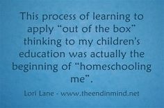 Homeschooling Me - Thinking Outside the Box www.theendinmind.net