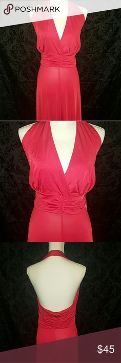 Lane Bryant Seven7 gown Sexy red halter top gown Seven7 Dresses Maxi
