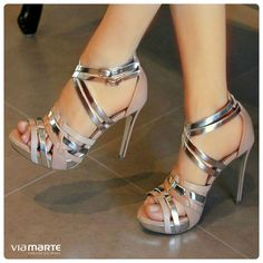salto alto - party shoes - brilho - metalizado - Ref. 14-16307 - verão 2015