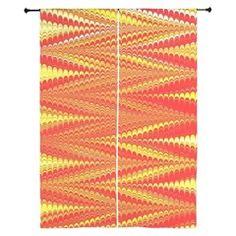 Zigzag Bright Orange Curtains