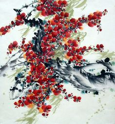 Chinese Painting: Plum Blossom - Chinese Painting CNAG233703 - Artisoo.com