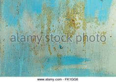 Blue background.Paint on metal surface - Stock Photo
