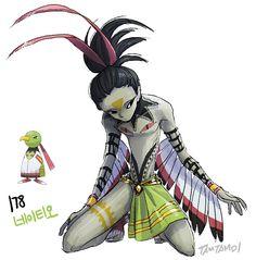 Pokemon gijinka 177. 178. Natu Xatu