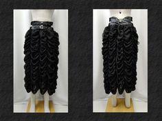【楽天市場】ゴスロリ ゴスパンク ゴシック シフォン シャーリングロングスカート 黒:PARROT