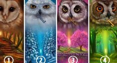 Choose an owl and reveal hidden data about your personality and happiness.The owls in this image have hidden revelations to give you about your personality. Test Visual, Roman Currency, Test Image, Hindu Culture, Athena Goddess, Guardian Angels, Animal Sketches, Best Relationship, Wicca