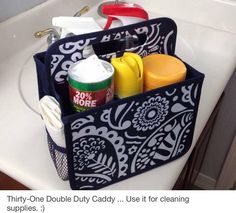 Double-Duty Caddy #springcleaning www.hannahgribble.com