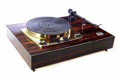 Golden Age Of Audio: Garrard 301 Ebel plinth in Macasser Ebony Linn Ittok with Linn Troika turntable