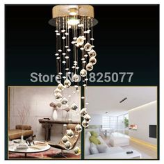 Modern Clear Waterford Spiral Sphere LED Lustre Crystal Chandelier Ceiling Lamp Home Decor Suspension Pendant Lamp Fixture CP41-in Chandeliers from Lights & Lighting on Aliexpress.com | Alibaba Group