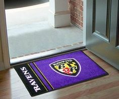Baltimore Ravens Starter Rug by Fanmats. $33.52. This item needs to be manufactured. Please, allow 10 to 14 days for this item to ship.. 2x3. Decorate your home or office with one of these Starter Rugs! Made in the U.S.A. this rug consists of 100% nylon carpet and non-skid Duragon latex backing. The rug measures 20 in. x 30 in., is officially licensed, and is Chromojet printed in true team colors for authenticity!
