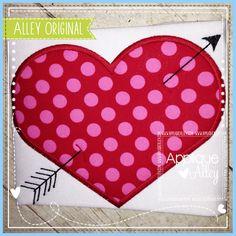 ARROW THROUGH HEART - Appliqué Alley