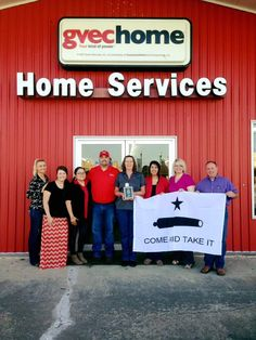 Our October winners were GVEC Home Services! Way to go! 😄👍🏼 #GonzalesTX #congrats