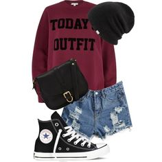 Casual by stylebyliyah on Polyvore featuring River Island, Converse, John Lewis and Coal
