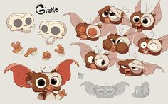 Cartoon Sketches, Animal Sketches, Character Design Animation, Character Design References, Gremlins, Character Concept, Character Art, Character Sketches, Cartoon Design