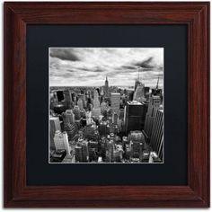 Trademark Fine Art Rockefellar View Canvas Art by Nina Papiorek, Black Matte, Wood Frame, Size: 16 x 16