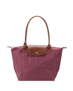 Le Pliage Medium Shoulder Tote Bag, Fig - Longchamp