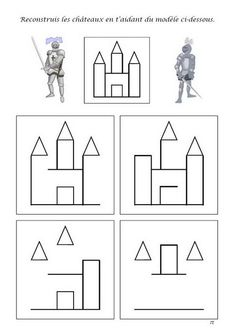 How to draw a castle Chateau Moyen Age, Medieval Party, Château Fort, Medieval Times, Math For Kids, Busy Book, Preschool Worksheets, Coloring Pages, Activities For Kids