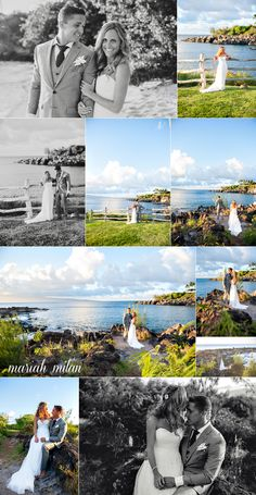 Beautiful Maui Wedding Photography by Mariah Milan Crystal and Ernest are one of those couples that make everything look completely effortless. An outdoorsy couple who love the ocean, they look like they should be spokespeople for a Roxy/Quicksilver wedding line, don't you think? Their wedding ceremony started with a gorgeous rainbow followed by a kiss of rain – a blessing in Hawaii – and we had so much fun enjoying …