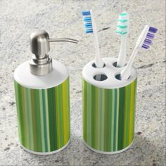 Summer Foliage Soap Dispenser And Toothbrush Holder - summer gifts season diy template ideas