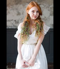 Wedding Dresses – Bohemian wedding dress – a unique product by VICTORIASPIRINA via en.DaWanda.com
