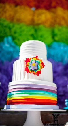 Rainbow Party For My Kids by Party Cakes By Samantha, via Flickr
