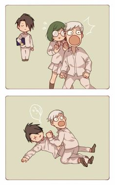 Memes Yakusoku no Neverland Arte Do Kawaii, Anime Kawaii, Otaku Anime, Manga Anime, Mini Comic, Funny Anime Pics, Haikyuu Anime, Animes Wallpapers, Neverland